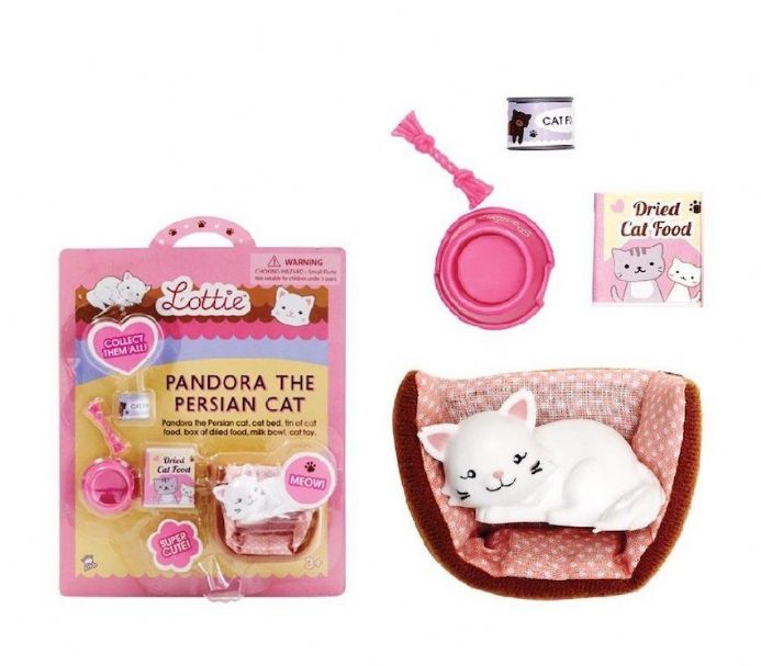 Lottie Doll Accessory Set - Pandora the Persian Cat